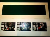 ROGER RABBIT AND EDDIE COLOR COPY SETUPS, IN ORIGINAL SOTHEBYS TRIPTYCH MAT,NM-M