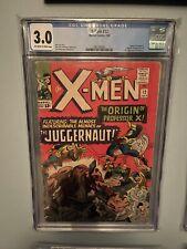 X-MEN #12 Marvel 965 CGC 3.0 Origin of Professor X Juggernaut 1st Appearance