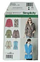 Simplicity 2153 Misses Anorak Sewing Pattern Size 6-14 UNCUT OOP 6 Styles