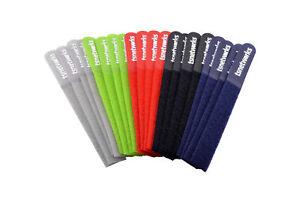 20 Stk. Klett-Kabelbinder 5 versch. Farben, wiederverwendbare Klettbinbinder