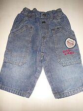Esprit tolle Jeans Hose Gr. 68 mit roten Stickereien !!