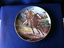 """Franklin Mint  """"Charging Warrior"""" US Indian plate"""