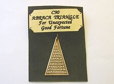 """""""For Unexpected Good Fortune """"  Abraca Triangle Star Charm Talisman Pendant"""
