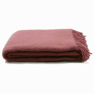 Pink Throw / Fringed pink Throw / Soft Throw / Cosy throw
