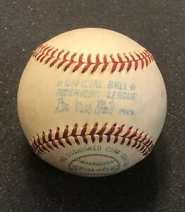Spalding American League Baseball - Early 1970's ~ Lee MacPhail Stamped ~ Unused