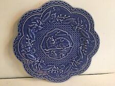 Bordado Pinheiro Blue Cat Plate - Mint