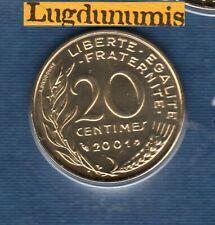 BU 2001 20 Centimes Marianne 2001 BU FDC Pièce Provenant du BU 125000 ex sous sc