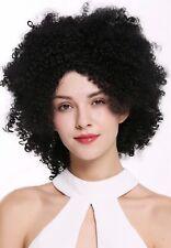 Peluca de Mujer Kraus Rizado Afro Rizos Karibik Volumen Voluminoso Negro