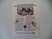advertising Pubblicità 1976 HEUER CRONOGRAFO CARRERA / MICROSPLIT 430