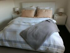 White Leather Queen Bedroom Set