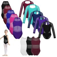 Girl Leotard Ballet Dance Dress Cutout Back Gymnastics Dancewear Unitard Costume