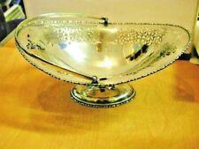 Fabulous Antique 1909 Hallmarked Heavy Pierced Solid Silver Fruit Bowl / Basket