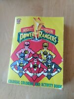 1994 SABAN Mighty Morphin Power Rangers MMPR Colossal Coloring & Activity Book