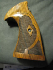 S&W K/L Frame Santos Rosewood CONVERSION ROUND-Butt TARGET Grips Checkered NEW!