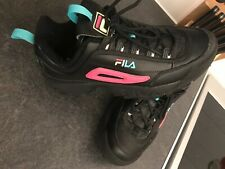 Fila Disruptor Ii Womens Uk8 Black/pink. Exc Condition (worn For Just Hours)