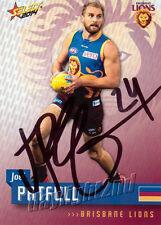 ✺Signed✺ 2014 BRISBANE LIONS AFL Card JOEL PATFULL