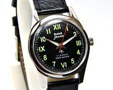 HMT Jawan Black Cal.020 Para Shock 17 Jewels Hand Winding Wrist Watch RH