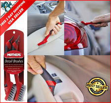2Pcs Car Interior Detailing Cleaning Brushes Set with Long Handle,Wheel Wash Kit