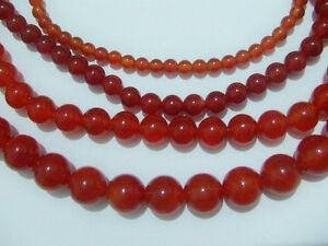 1filo perline pietre dure forate in corniola naturale colore arancione