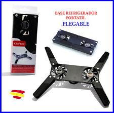 BASE Refrigeradora PORTATIL Plegable 2 ventiladores SILENCIOSO Refrigerador USB
