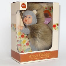 ANNE GEDDES DOLLS 'Bean Filled' collection NEW in Box BABY HEDGEHOG Doll 9''