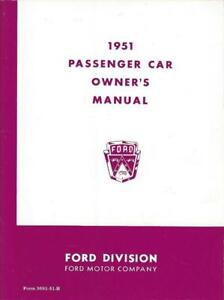 1951 Ford Car Owner's Manual Book quality older reproduction 32pgs V-51 Q3