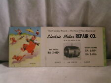 BLOTTER FOR ELECTRIC MOTOR REPAIR CO QUINCY,IL