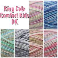 King Cole Comfort Kids DK Acrylic Knitting Wool Yarn 100g