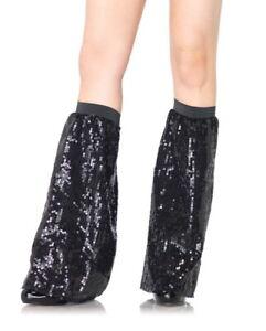 Sequin Leg Warmers Black New by Leg Avenue 3930