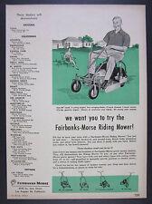 1955 Fairbanks-Morse Riding Lawn Mower lawnmower vintage print Ad