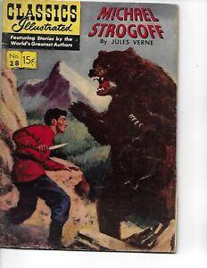 Classics Illustrated  #28  Michael Strogoff   hrn 115