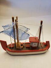 Mini Wooden Fishing Boat