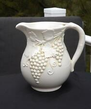 Vintage Bassano Pitcher Grapes & Leaves Italy EXC