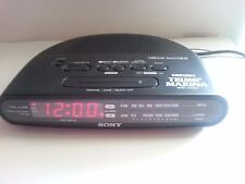 SONY DREAM MACHINE-ICF-C390-DUAL ALARM CLOCK/RADIO-CLEAN-WORKS