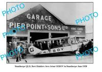 OLD 6x4 PHOTO OF STANTHORPE QLD BERT HINKLER REFUELLING AVRO AVIAN c1928