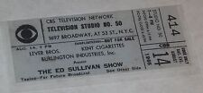 Reproduction The Beatles Aug 14, 1965 Ed Sullivan TV Show Audience Ticket