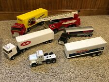 Vintage Tonka Fire truck, Texaco Tanker, Shop Rite, Acme, Other Tractor Trailers