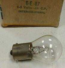 2 New NOS Vintage GE 87 Lamp 6-8 volt Interior or Marker Light Bulbs