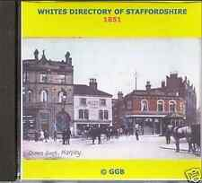 GENEALOGY DIRECTORY OF STAFFORDSHIRE 1851 CD ROM