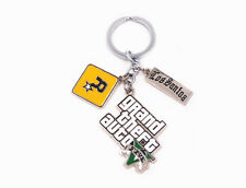 PS Game Grand Theft Auto V GTA 5 Metal Keychain Key ring New