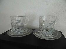 2 x Orig. Senseo Tasse Glas + Untertasse HD7823 Spec. Edt. Tord Boontje wie neu