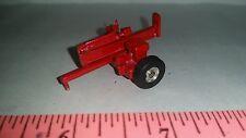 1/64 ERTL custom farm toy pull behind moveable metal red log splitter display!