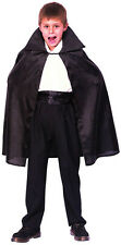 Childrens Black Dracula Cape 7-10 Yrs Vampire Fancy Dress Child Kids Costumes