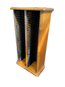 Solid Wooden CD Rack CD Storage 80 Shelves Good Condition