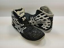 Asics Split Second Black Silver Matflex Wrestling Shoes J203J - Size 8