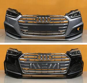 Audi s5/s line  b9 2017-19 GENUINE FRONT BUMPER  headlights pair