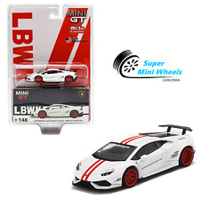 Mini GT 1:64 LB WORKS Lamborghini Huracan Version 1 (White) #148 USA Exclusive