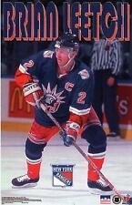 1998 Brian Leetch New York Rangers Original Starline Poster OOP