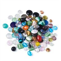 200pc/Bag Mixed Handmade Lampwork Beads Assorted Shapes Mixed Color 4-20mm