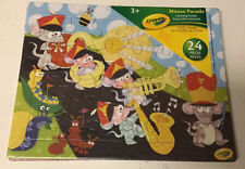(2) Crayola 24-Piece Learning Tray Puzzles (Count With Me & Mouse Parade) NEW